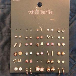 27 pairs of sweet study earrings